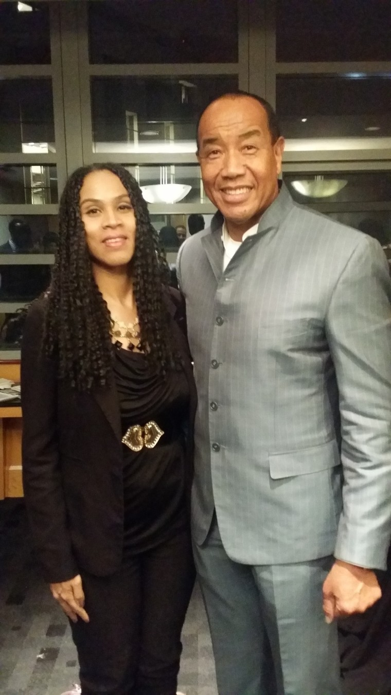 Michael Lee Chin and Deborah Austin at U oT Investor Speaker series reception (January 2016)